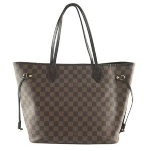 Neo Neverfull Brown Coated Canvas Shoulder Bag